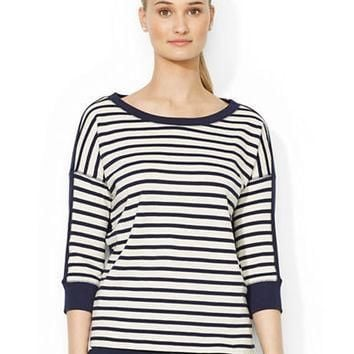 Lauren Ralph Lauren Nautical French Terry Shirt