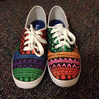 Hand drawn Tribal Keds womens 8.5