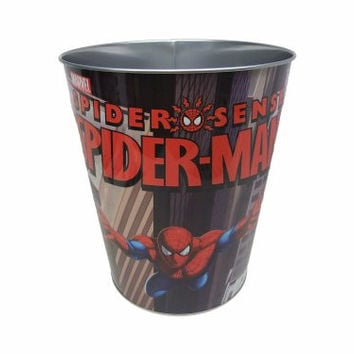 Metal Characterized Trash Can for Kids Rooms (Spiderman)