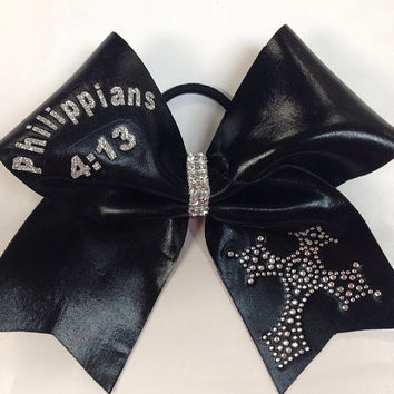 Cheer Bow (Verse & Color Customizable)