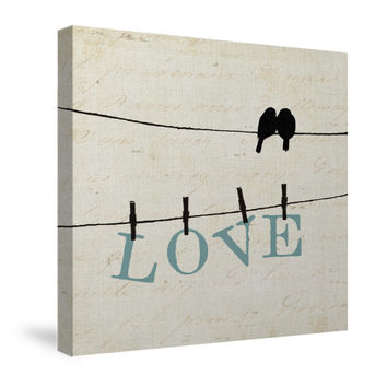 Bird Talk II Canvas Wall Art