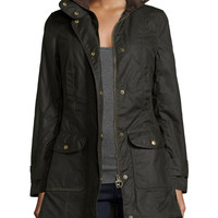 Squire Waxed Flap-Pocket Jacket, Size: