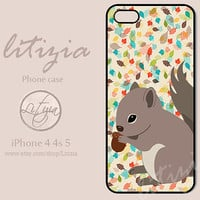 Squirrel iPhone Case, iPhone 4 Case, iPhone 4s Case, iPhone 5 Case, Plastic Case