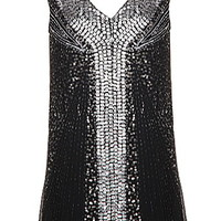 Double Diamond Dress | Silver Sequin Flapper Party Dresses | Rickety Rack
