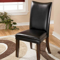 0-011814>Set of 2 Charrell Dining Chairs Black