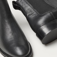 Leather Chelsea Boots - Black - | H&M US