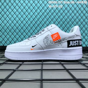 HCXX N086 Nike Air Force 1 Low Retro Just Do It Breathable Causal Skate  Shoes White aea93e219