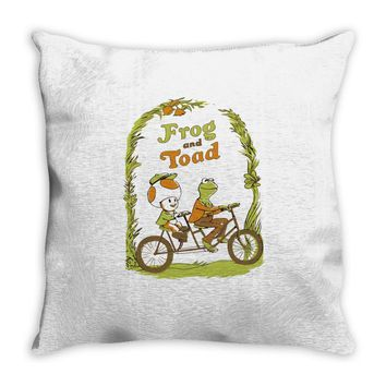 frog & toad Throw Pillow
