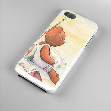 Little Teddy Bear in Beach Art Iphone 5s Case