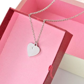 Sympathy Jewelry Necklace A Piece of My Heart Is In Heaven Heart Pendant In Loving Memorial Gift