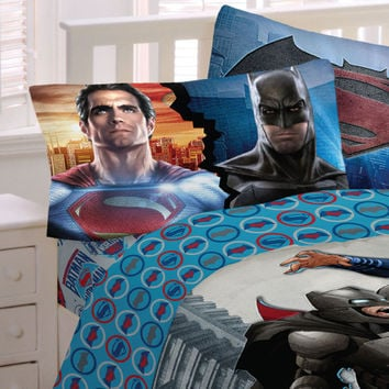 Batman Superman Bed Sheets World's Finest Heroes Bedding: Full