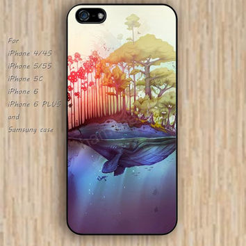 iPhone 6 case Whale Island colorful rose iphone case,ipod case,samsung galaxy case available plastic rubber case waterproof B096