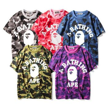 ONETOW Boys & Men Bape Camouflage Tunic Shirt Top Blouse