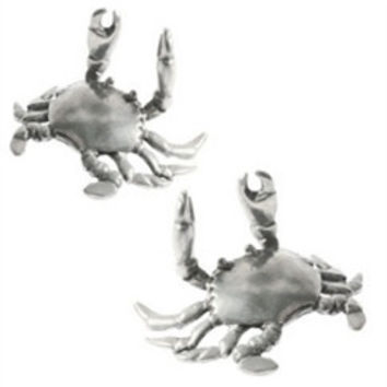 Pewter Crab Place Card Holders  Set of 12