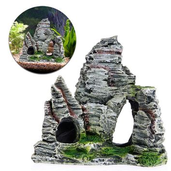 Aquarium Fish Tank Ornament Rockery Hiding Cave Landscape Decor Underwater Decor -Y102