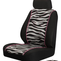 Zebra Low Back Car Seat Cover