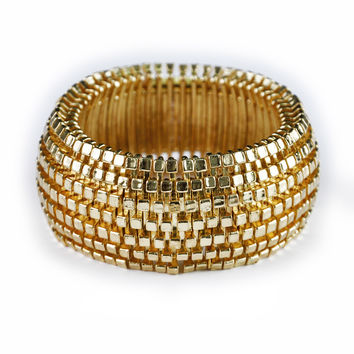Kenneth Jay Lane Goldtone Stretch Bracelet
