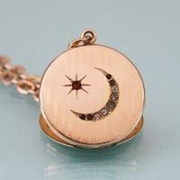 Edwardian Moon and Star Locket -:- W&H Co.