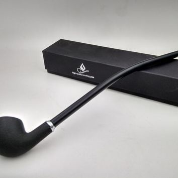 New 1pcs Long Black Churchwarden Tobacco Pipe Tobacco Smoking Accessories Gadget for Men 40cm With Gift Box H702