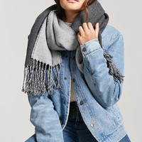Reversible Oblong Fringe Scarf