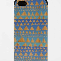 Painted Wood iPhone 5/5s Case- Blue One