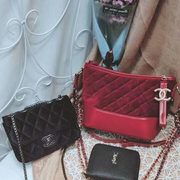 Year-End Promotion 3 Pcs Of Bags Combination (Chanel Big Bag ,Chanel Little Bag ,YSL Wallet)
