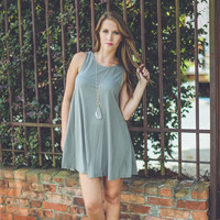 Simple Love Dress in Olive