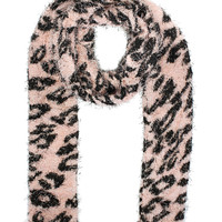 Fluffy Two In One Scarf in Pink – bandbcouture.com