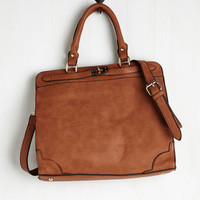 ModCloth Heading in the Bright Direction Bag in Cognac