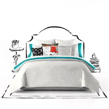 kate spade new york Deco Dot Duvet Cover Set