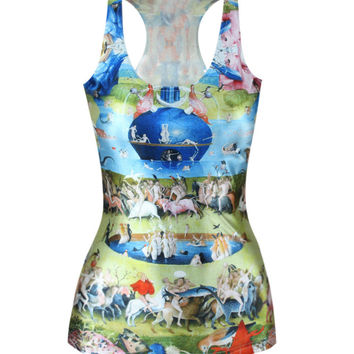 Beach Hot Comfortable Bralette Summer Sexy Hot Sale Strong Character Print Stylish Slim Vest [6048961601]