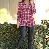 Hipster Flannel - Red
