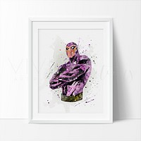 Superhero Phantom Watercolor Art Print