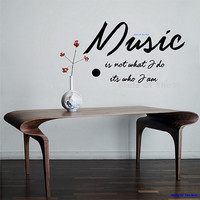 Music Notes Wall Decal Medicine Of The Mind vinyl Sticker Art Decor Bedroom Design Mural school educational musician home decor wall decor