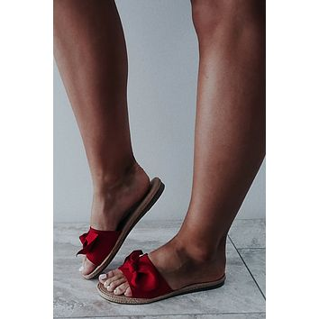 Forever Bows Sandals: Red