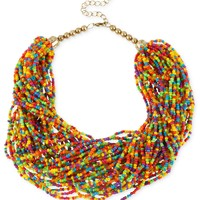 Haskell Necklace, Antique Gold-Tone Rainbow Seed Bead Torsade Necklace - Fashion Jewelry - Jewelry & Watches - Macy's
