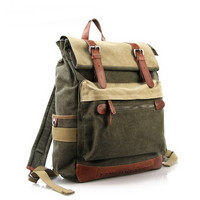 Functional Tramp canvas Backpack | Outdoor laptop Daypack mens