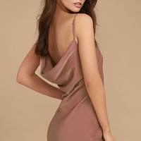 Make a Move Mauve Slip Dress