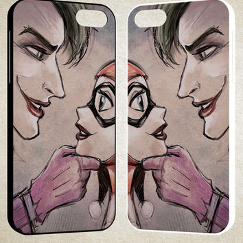 Harley Quinn Joker A1710 iPhone 4S 5S 5C 6 6Plus, iPod 4 5, LG G2 G3, Sony Z2 Case
