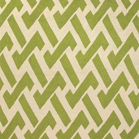 Fence Summer Green Outdoor Rug