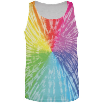Rainbow Pride LGBT Tie Dye All Over Adult Tank Top