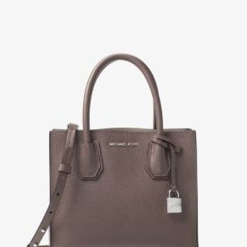 Mercer Medium Bonded-Leather Tote | Michael Kors
