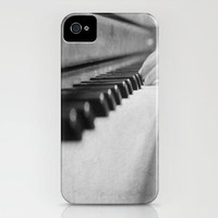 Music iPhone 5 case Piano Keys cover Black and White Photography Instrument Pianist Musician Gift