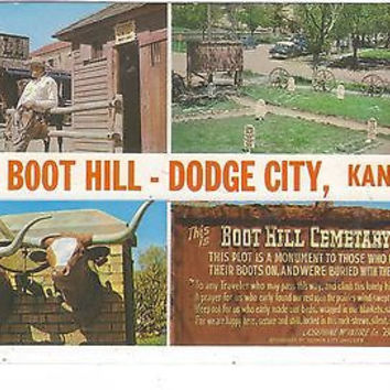 Greetings From Boot Hill, Dodge City, Kansas