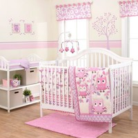 Belle Dancing Owl 3-Piece Crib Bedding Set