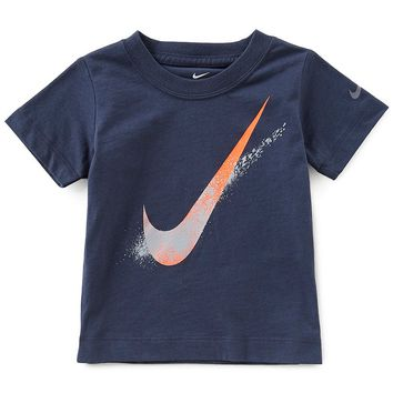Nike Baby Boys 12-24 Months Short-Sleeve Swoosh Spray Tee | Dillards