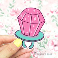 90's Ring Pop Vinyl Sticker