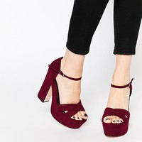 ASOS HIGH SPIRITS Wide Fit Platforms