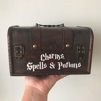 Harry Potter advanced potions hogwarts charms spells potions vintage storage  trunk box
