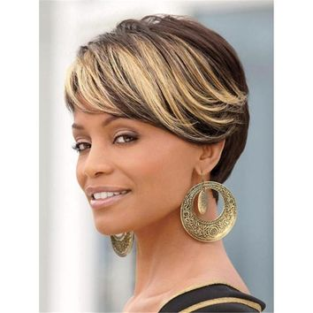 Short Straight Fashion Wigs Synthetic Hair